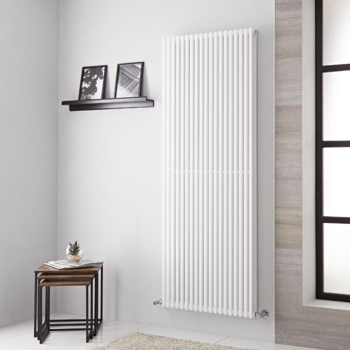 Lazzarini Way Grosseto V - White Vertical Designer Radiator - 1806mm x 680mm