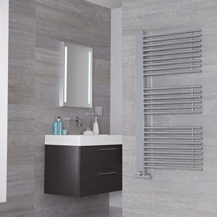 Lazzarini Way Grando - Chrome Designer Heated Towel Rail - 1190mm x 600mm