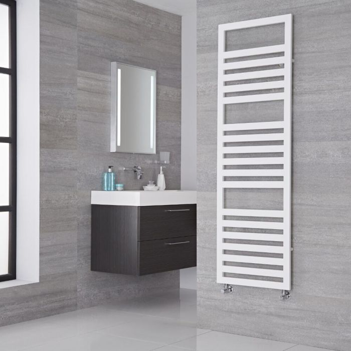 Lazzarini Way Urbino - White Designer Heated Towel Rail - 1600mm x 500mm