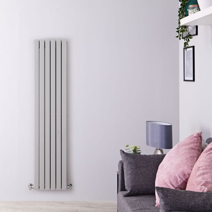 Milano Capri - White Flat Panel Vertical Designer Radiator - 1600mm x 354mm