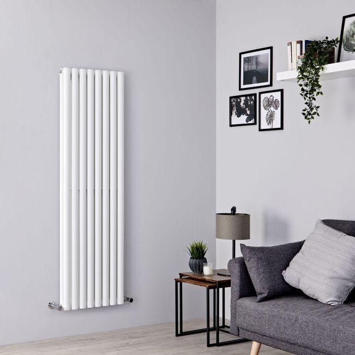 Milano Aruba - White Vertical Designer Radiator - 1600mm x 472mm (Double Panel)