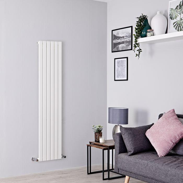 Milano Capri - White Flat Panel Vertical Designer Radiator - 1600mm x 354mm