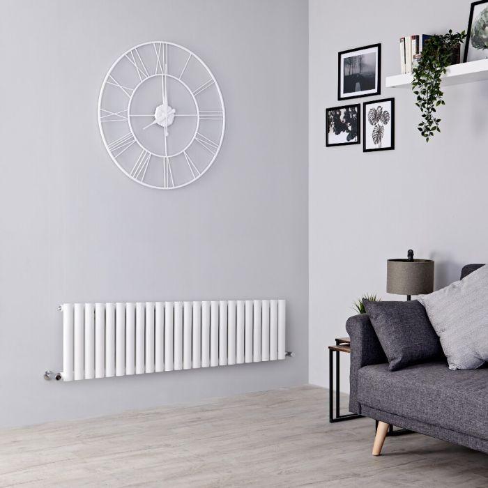 Milano Aruba - White Horizontal Designer Radiator - 400mm x 1411mm