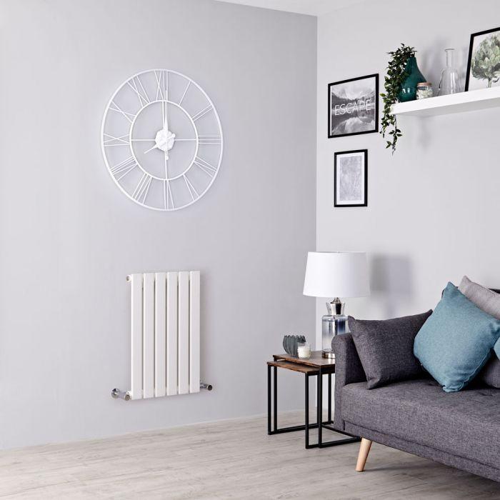 Milano Alpha - White Flat Panel Horizontal Designer Radiator - 635mm x 420mm