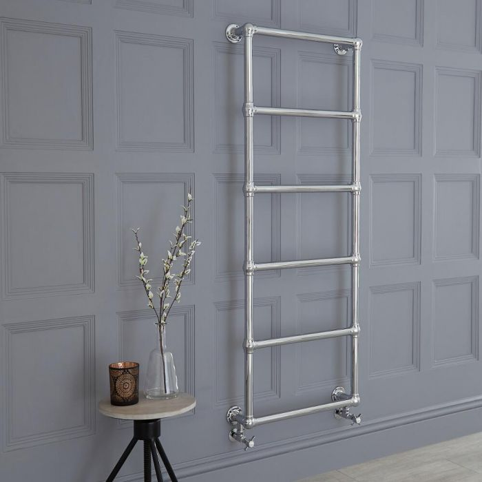 Milano Derwent - Traditional Brass Minimalist Heated Towel Rail - 1550mm x 600mm