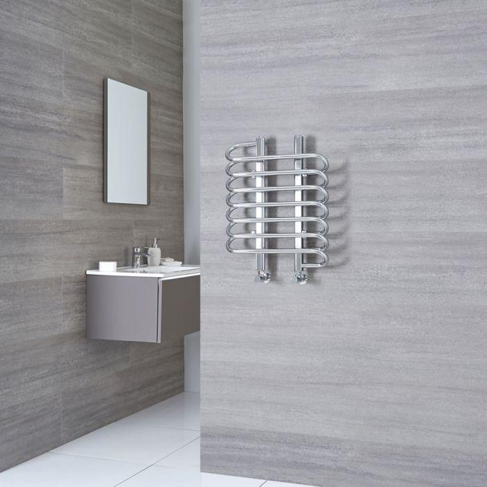 Milano Select - Chrome Designer Heated Towel Rail - 610mm x 500mm