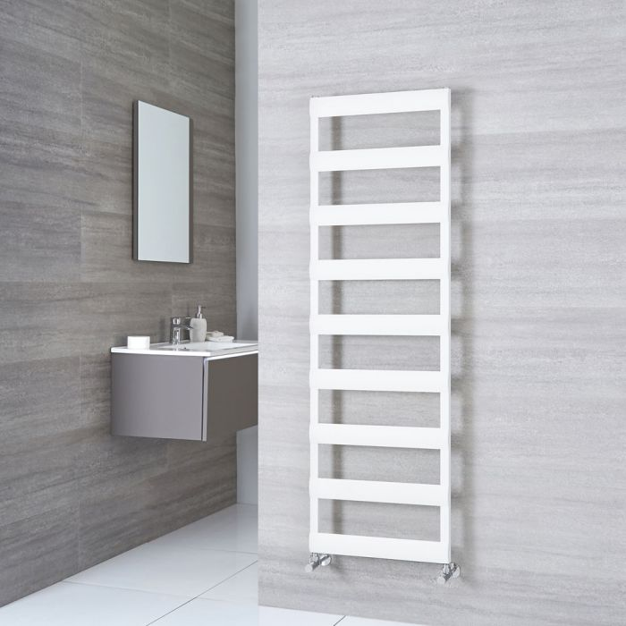 Milano Passo - Aluminium White Heated Towel Rail - 1590mm x 500mm