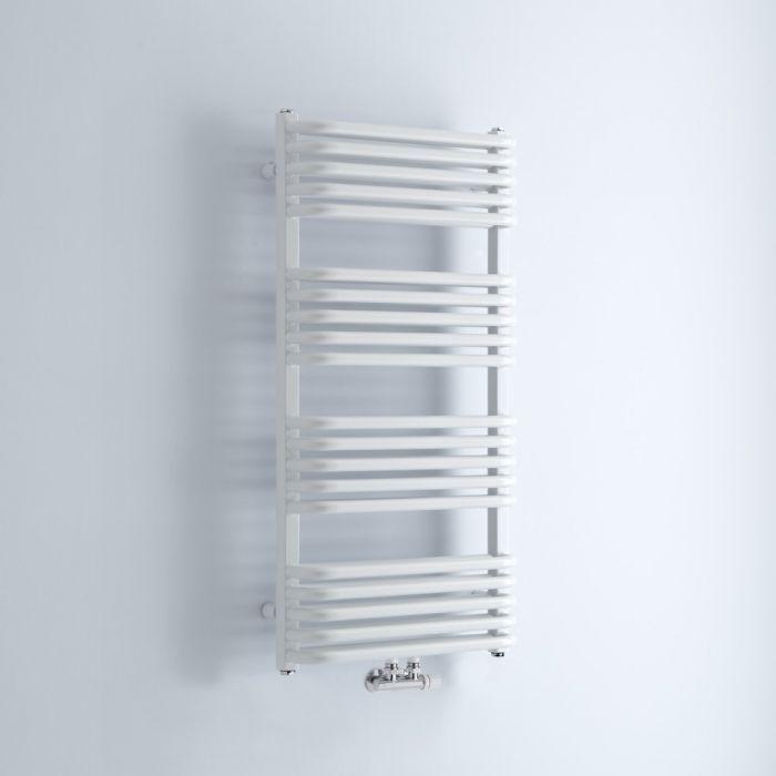 Milano Bow - White D-Bar Heated Towel Rail - 1000mm x 500mm