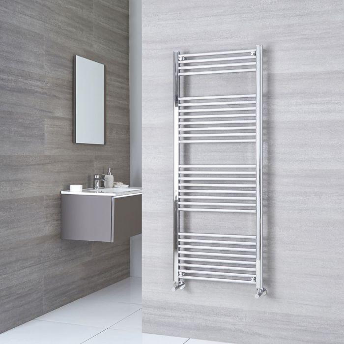 Milano Ribble - Chrome Flat Heated Towel Rail - 1500mm x 600mm