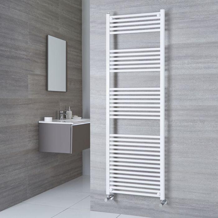 Milano Calder - White Flat Heated Towel Rail - 1800mm x 600mm
