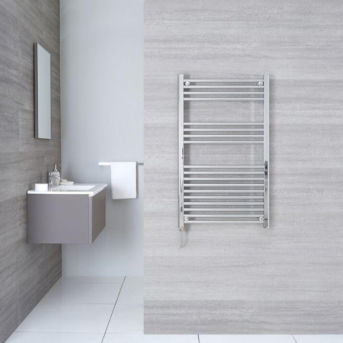 Kudox Ladder Electric - Chrome Flat Standard Heated Towel Rail - 500mm x 1000mm