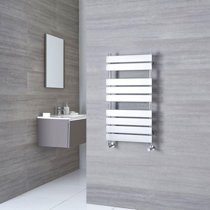 Kudox Signelle - Chrome Plated Flat Panel Designer Heated Towel Rail - 950mm x 500mm