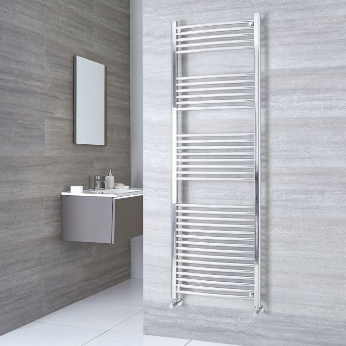 Kudox Ladder - Premium Chrome Curved Heated Towel Rail - 1800mm x 500mm