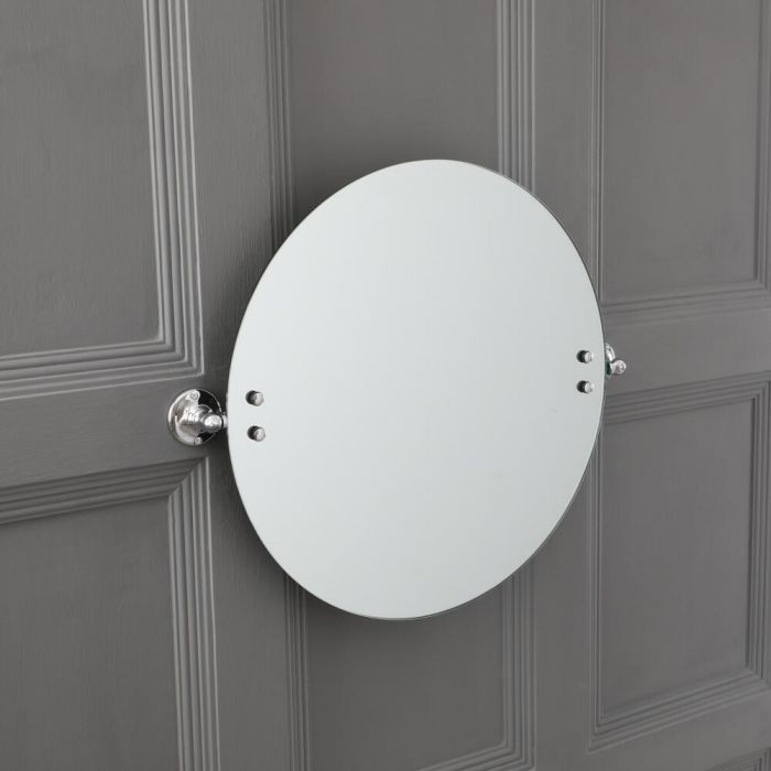 Milano Elizabeth - Traditional Round Bathroom Mirror