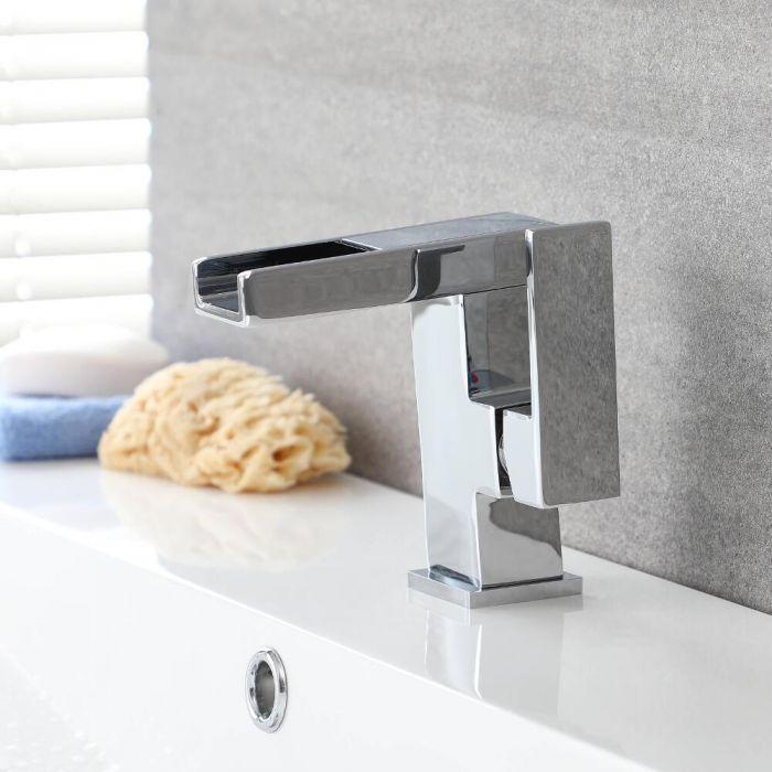 Milano Select - Modern Mono LED Waterfall Deck Mounted Bath Tap