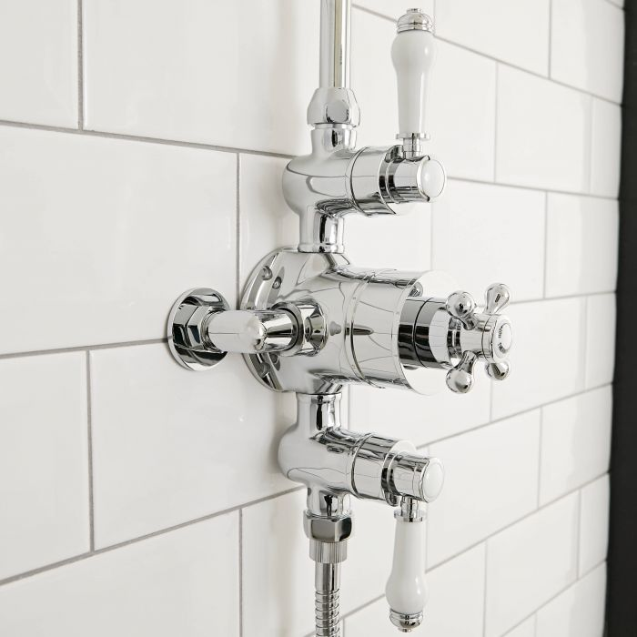 Milano Elizabeth - Traditional Triple Exposed Thermostatic Shower Valve