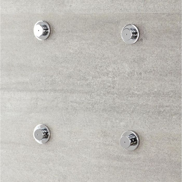 Milano Mirage - Modern Front Fix Pack of 4 Fine Mist Body Jets - Chrome
