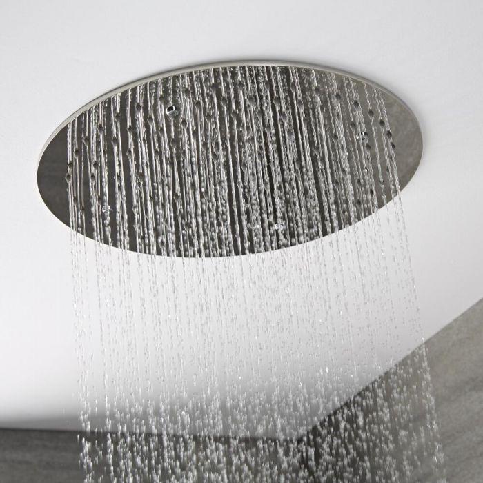 Milano Mirage - Modern Round 400mm Recessed Shower Head - Chrome