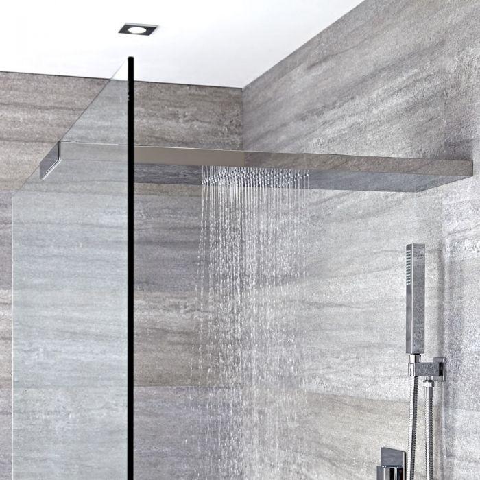 Milano Select - Modern Wall Mounted 900mm Glass-Grabbing Shower Head - Chrome