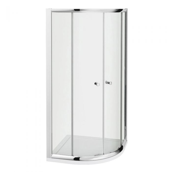 Milano Portland - Complete Quadrant Shower Enclosure With Tray and Waste 800mm x 800mm
