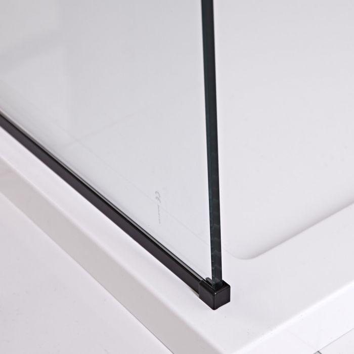 Milano Nero - Modern Floor Channel - Black