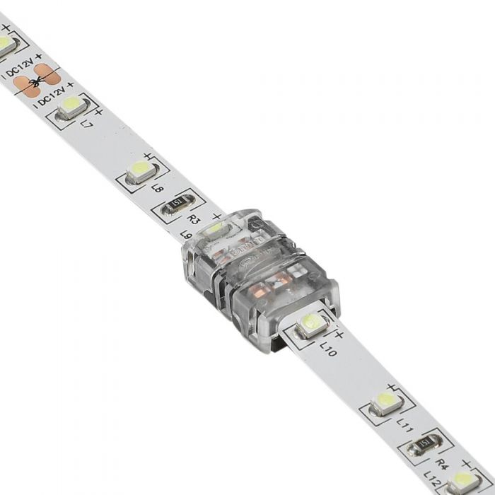 Biard LED Strip Connector for 3528 8mm IP20 Single Colour - 2 Pin