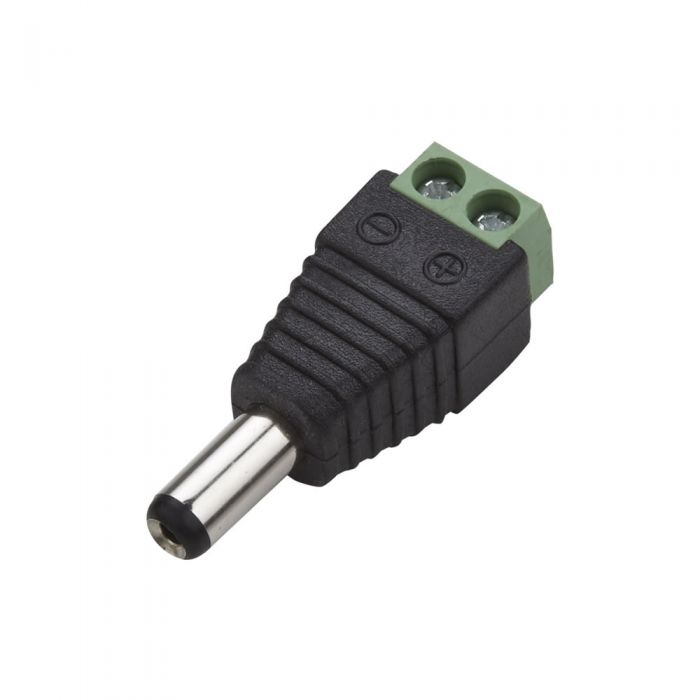 Biard LED Strip Connector Plug for Single Colour - Male Jack to 2 Core Wire
