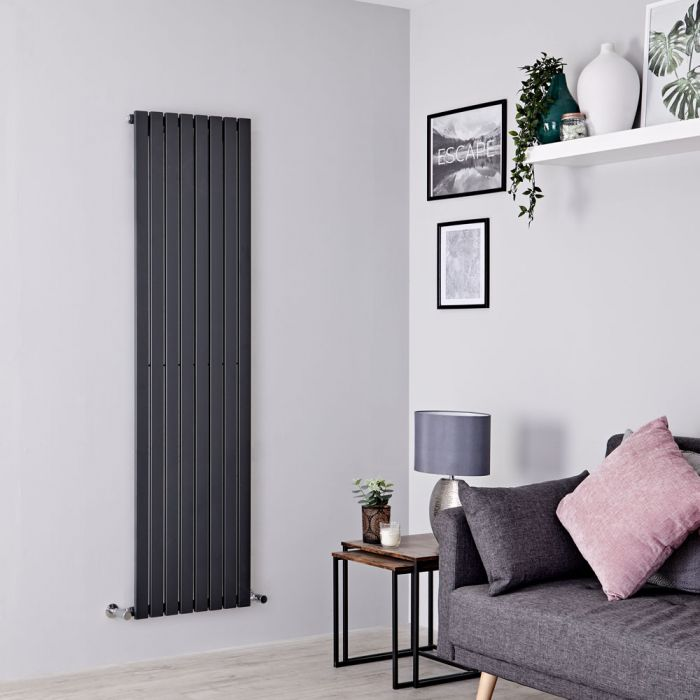 Milano Capri - Anthracite Flat Panel Vertical Designer Radiator - 1780mm x 472mm