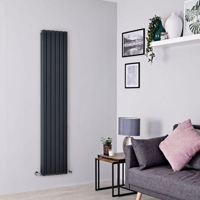 Milano Capri - Anthracite Flat Panel Vertical Designer Radiator - 1780mm x 354mm (Double Panel)
