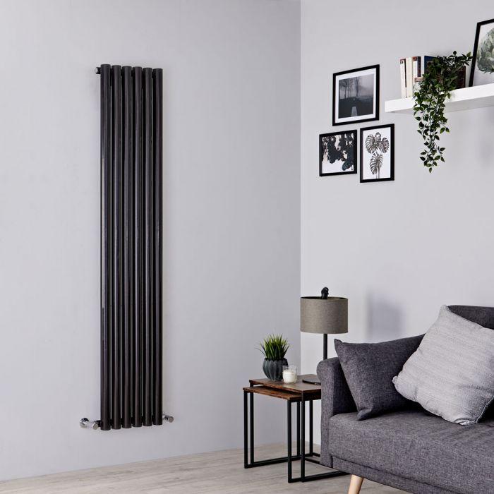 Milano Java - Black Vertical Designer Radiator - 1780mm x 354mm