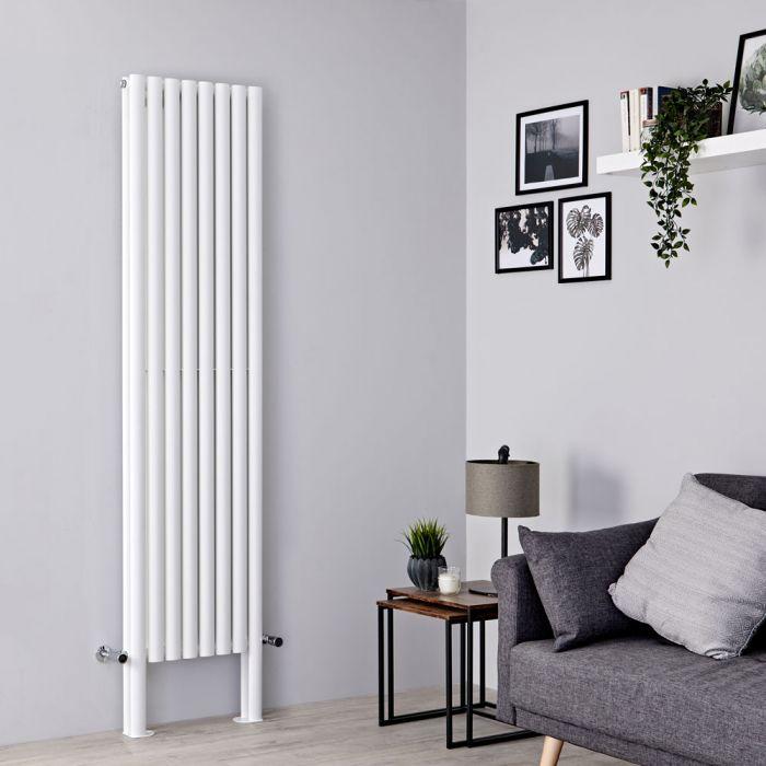 Milano Aruba Plus - White Vertical Designer Radiator - 2000mm x 472mm (Double Panel)
