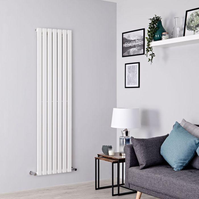 Milano Alpha - White Flat Panel Vertical Designer Radiator - 1780mm x 490mm