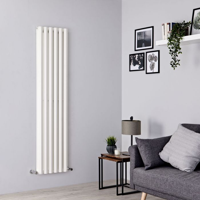 Milano Viti - White Diamond Panel Vertical Designer Radiator - 1780mm x 420mm (Double Panel)