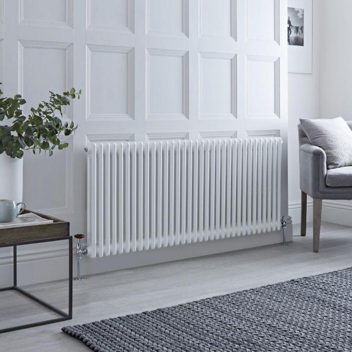 Milano Windsor - White Horizontal Traditional Column Radiator - 600mm x 1505mm (Double Column)
