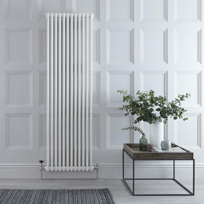 Milano Windsor - White Vertical Traditional Column Radiator - 1800mm x 560mm (Triple Column)