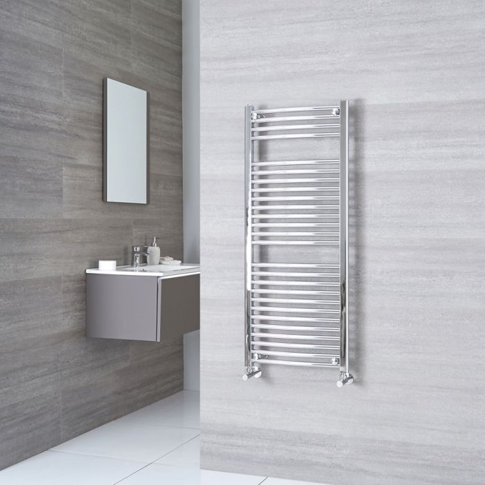 Sterling - Chrome Curved Heated Towel Rail - 1200mm x 500mm