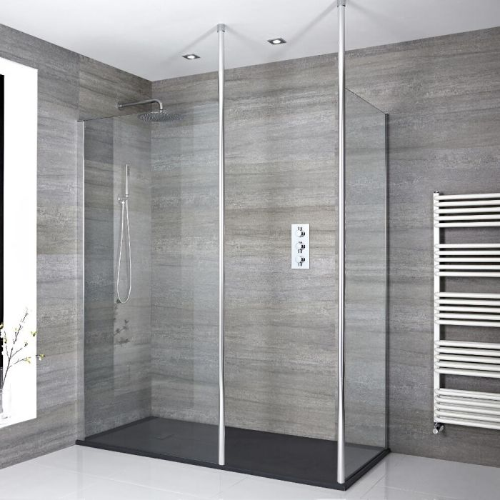 Milano Alto - Walk-In Shower Enclosure with Slate Tray - Choice of Sizes