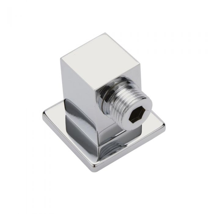 Milano Arvo - Modern Square Brass Shower Outlet Elbow - Chrome