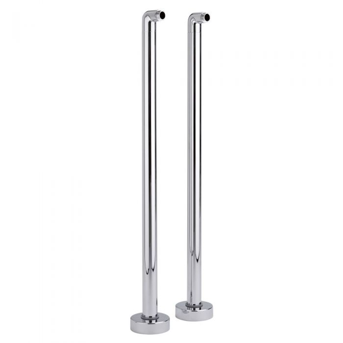 Milano Select - Traditional Floor Standing Bath Tap Legs - Chrome