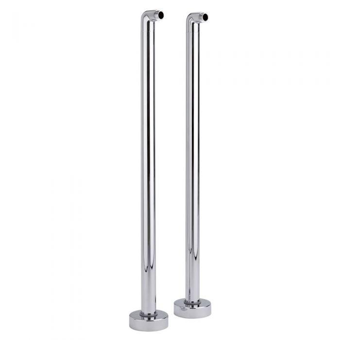Milano Select - Traditional Floor Standing Bath Legs - Chrome