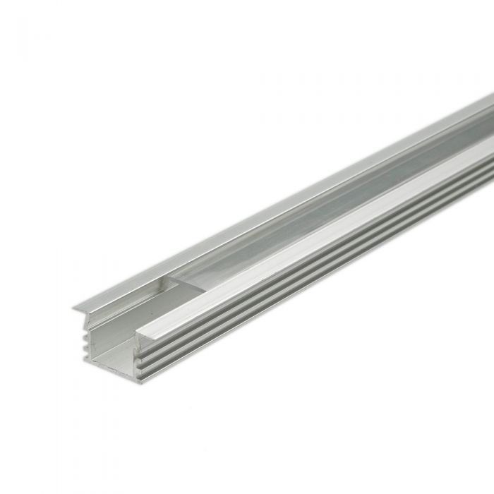 Biard Recessed Finned Aluminium Profile Cover and End Cap Set - 5 Pack