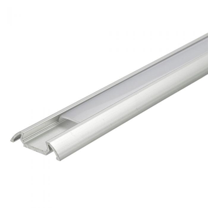 Biard Flat Aluminium Profile Cover and End Cap Set - 5 Pack