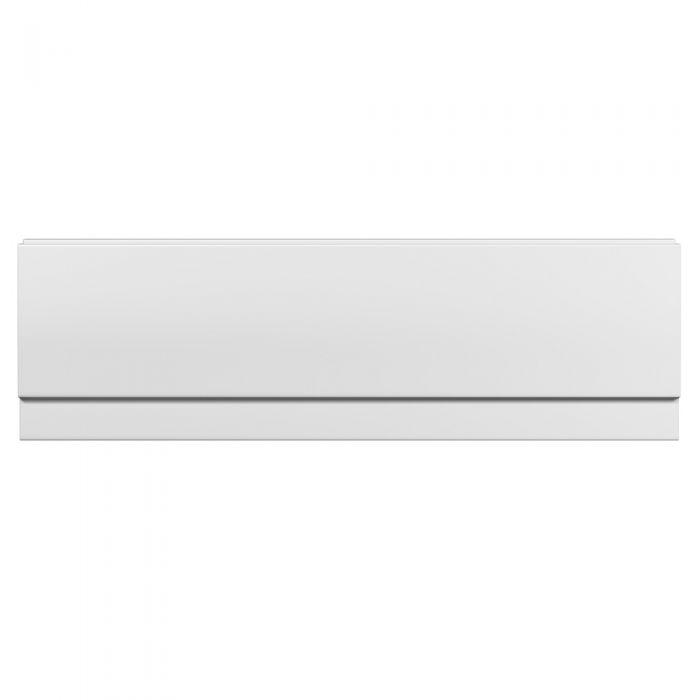 Milano - 1500mm Modern Acrylic Bath Front Panel - White