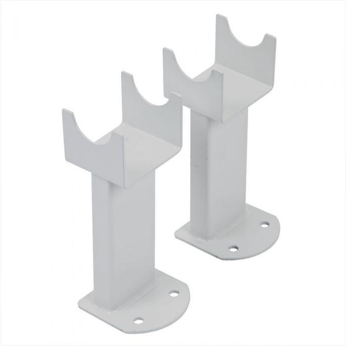 Milano - White Floor-Mounting Feet for Aruba, Capri & Java Vertical Designer Radiators