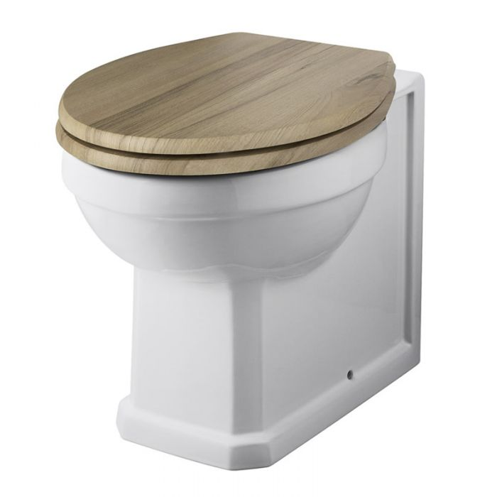 Milano Richmond - Traditional Back to Wall Toilet with Choice of Seat
