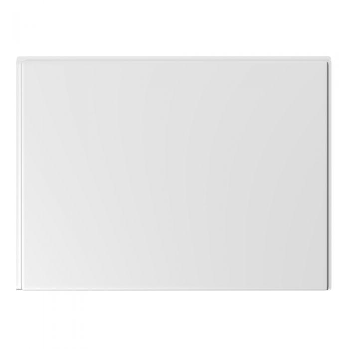 Milano - 800mm Modern Bath End Panel - White