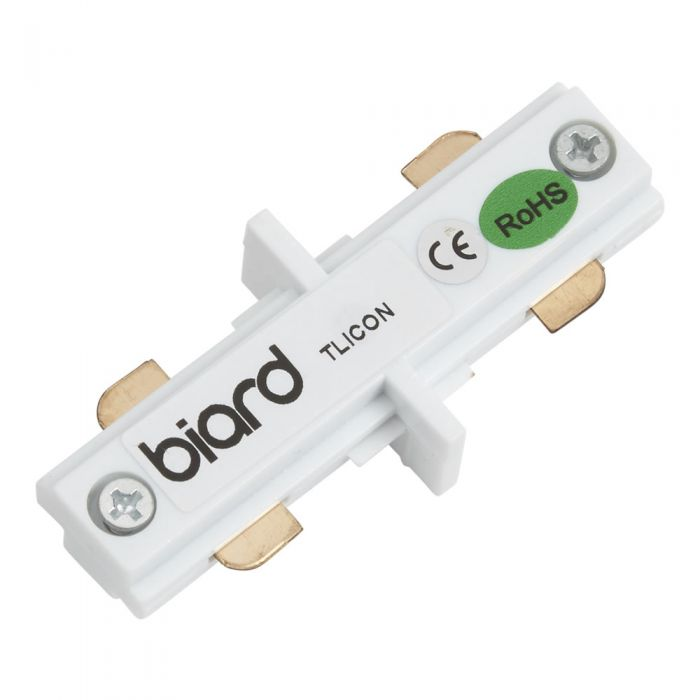 Biard Straight Connector for Track Light - White
