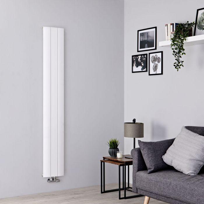 Milano Skye - Aluminium White Vertical Designer Radiator - 1600mm x 280mm
