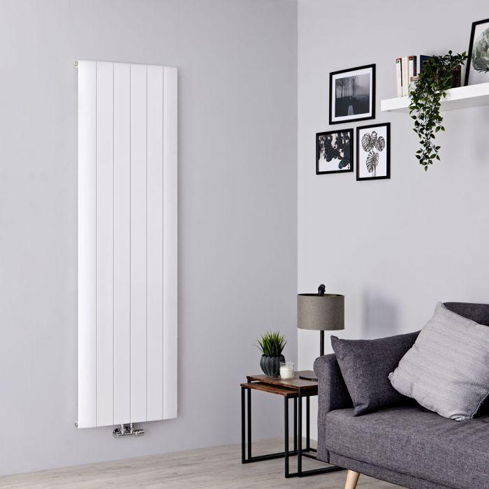 Milano Skye - Aluminium White Vertical Designer Radiator - 1800mm x 565mm