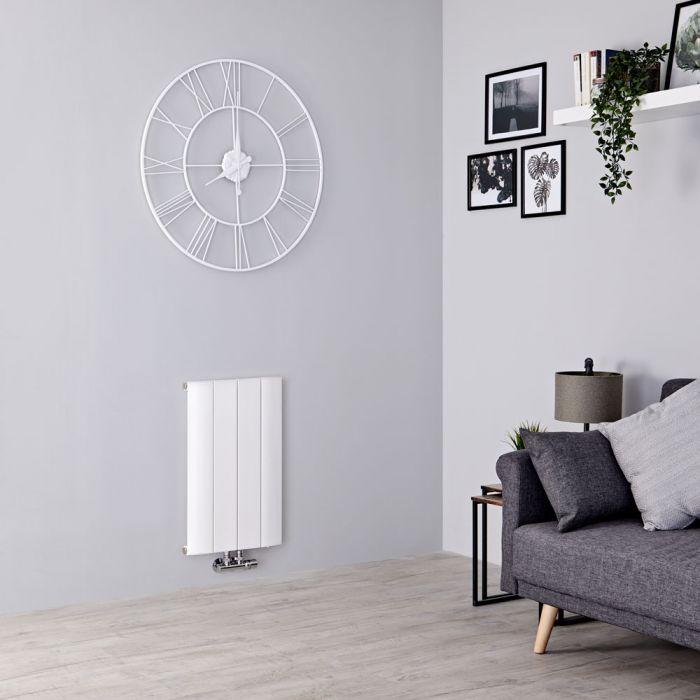 Milano Skye - Aluminium White Horizontal Designer Radiator - 600mm x 375mm